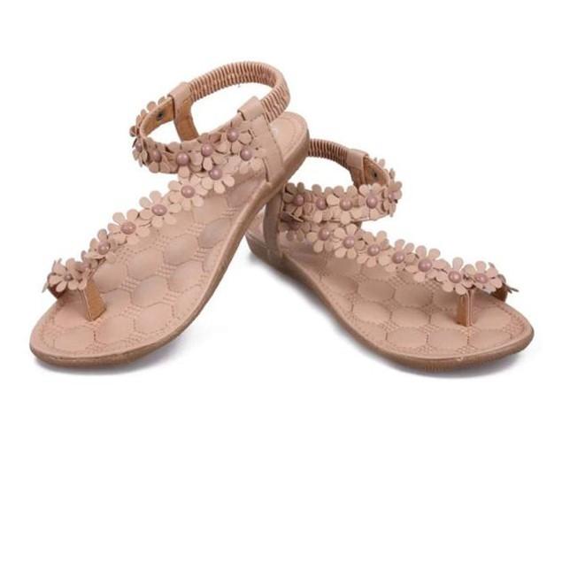 Women's Bohemia Sweet Beaded Clip Toe Sandals