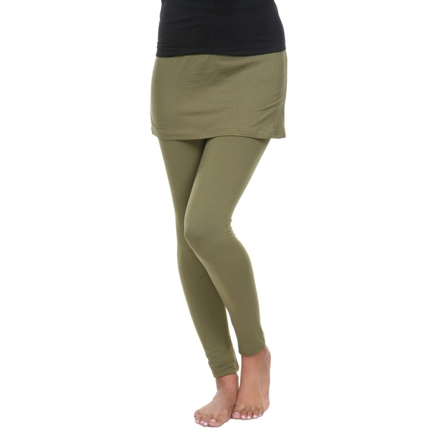 Solid Color Skirted Leggings - 11 Colors