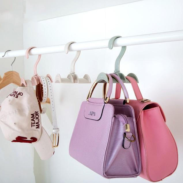 Rotate Hook Belt Tie Bag Scarf Closet Organizer Holder Hanger Rack