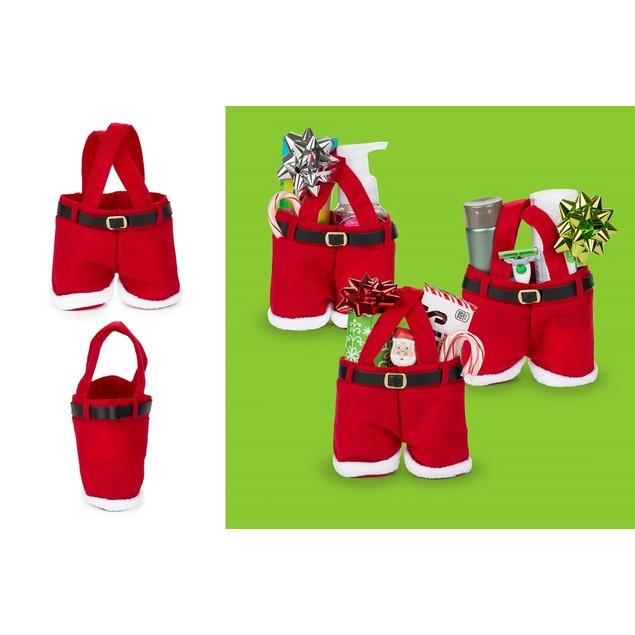 3-Pack Santa Pants Holiday Gift Bags