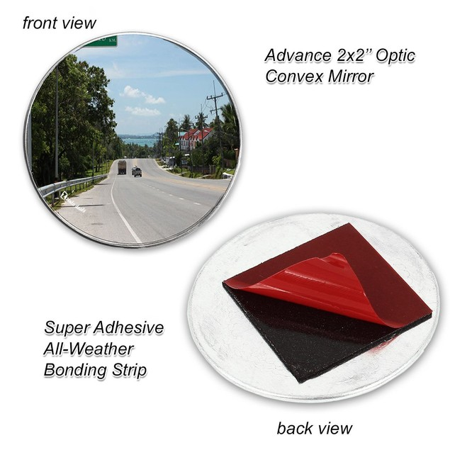 2-Pack Car Vehicle Stick-on Rear-view Blind Spot Mirrors