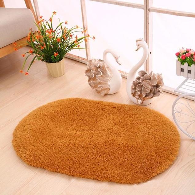 Oval Memory Foam Bath Mat - Assorted Colors