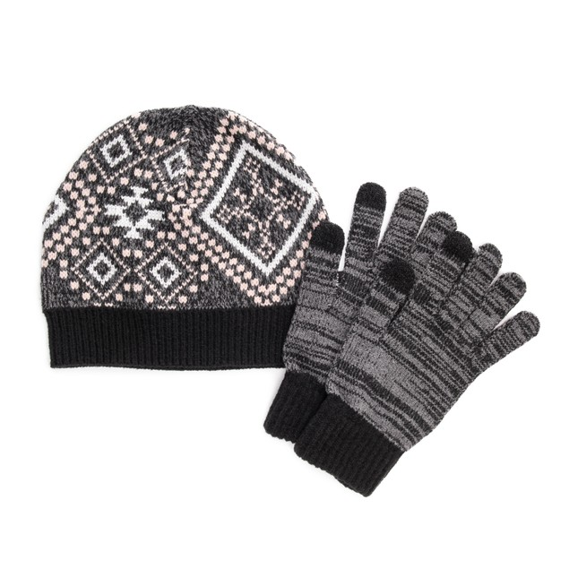 MUK LUKS ® Women's 2-Piece Beanie and Glove Set
