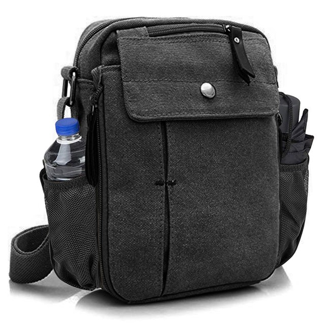 Multi-Functional Canvas Bag with Bottle Holder