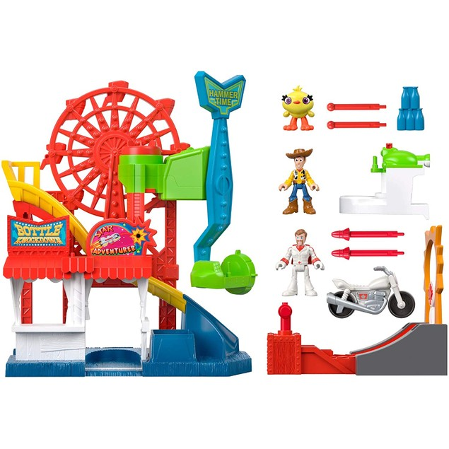 Fisher-Price Imaginext Disney Pixar Woody and Ducky Toy Story 4 Carnival