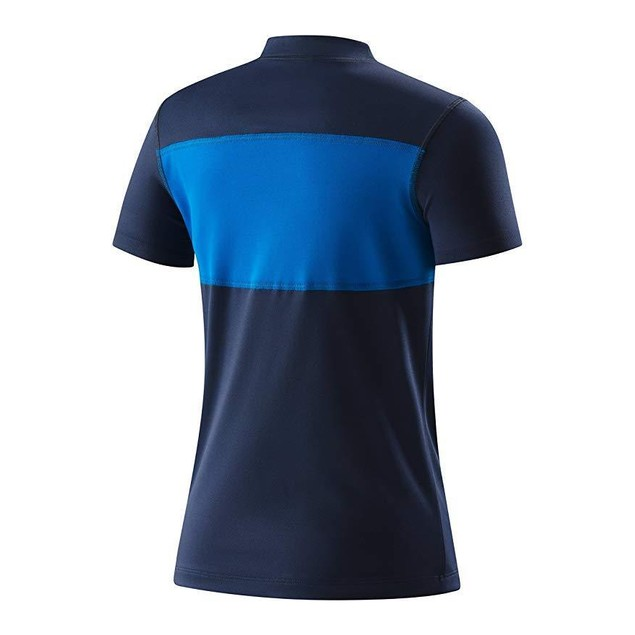 Speedo Boys Blocked Short Sleeve Swim Tee Shirt, Washed Navy, Medium