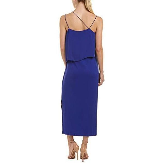 Vince Camuto Womens Asymmetrical Woven Overlay Maxi Tank Dress Nile SZ