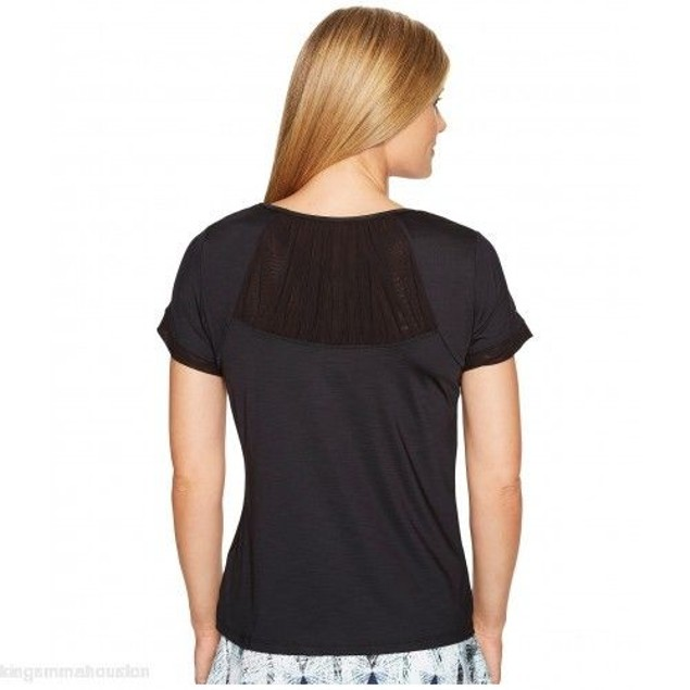 Eleven by Venus Williams Women's Diamond Intensity Short Sleeve Black