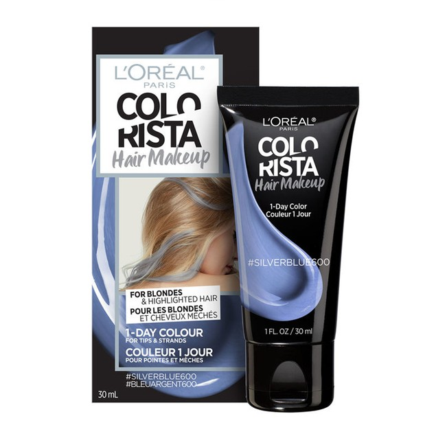 L'Oreal Paris Colorista Hair Makeup Temporary Hair Colour, Silver Blue 600