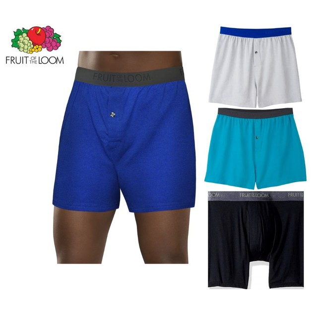 3-Pack Fruit Of The Loom Men's Breathable Cooling Micro Mesh Knit Boxer
