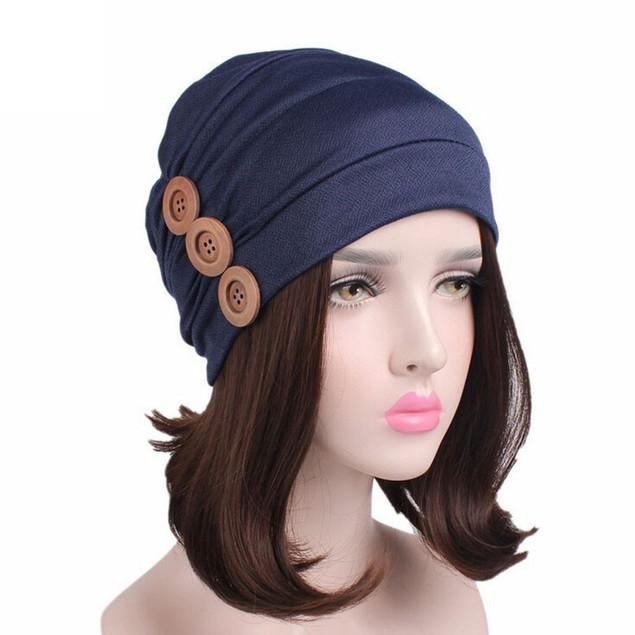 Women Cancer Chemo Hat Beanie Scarf Turban Head Wrap Cap J