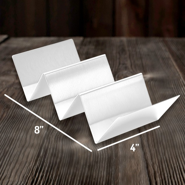 2-Pack Bundle California Home Goods Stainless Taco Holder Stands