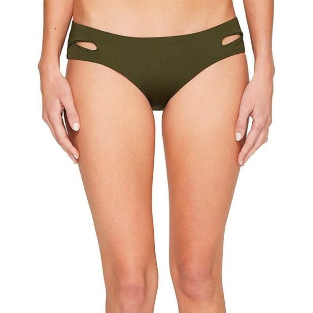 Becca by Rebecca Virtue Women's Tab Side Hipster Bikini Bottom Bay Lea