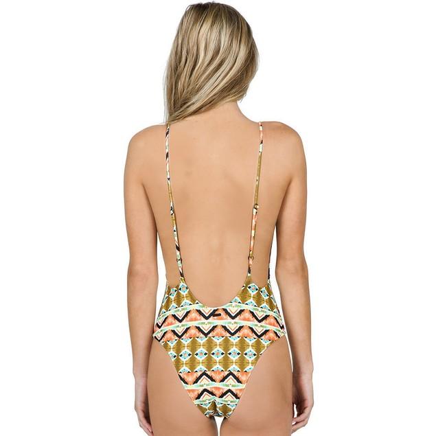 Volcom Women's Native Drift 1 Piece Bathing Suit, Burnt Sienna SIZE SM
