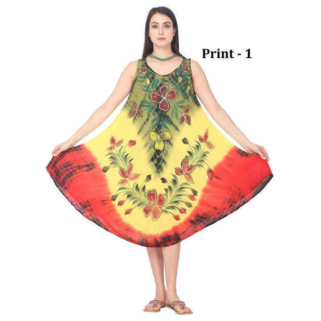 Floral Prints Sleeveless Summer Dresses - Plus Sizes Available