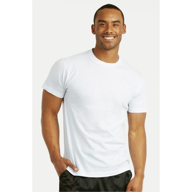 3-Pack Men's Spak 100% Cotton White T-Shirt