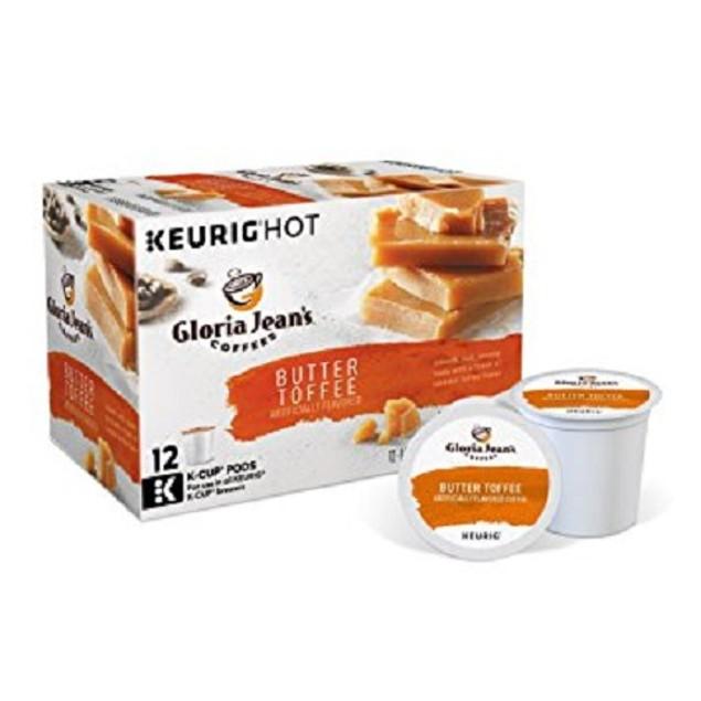 Gloria Jean's Coffees Butter Toffee Keurig K-Cups