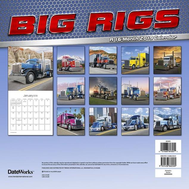 Big Rigs Wall Calendar, Trucks & 4WD by Calendars