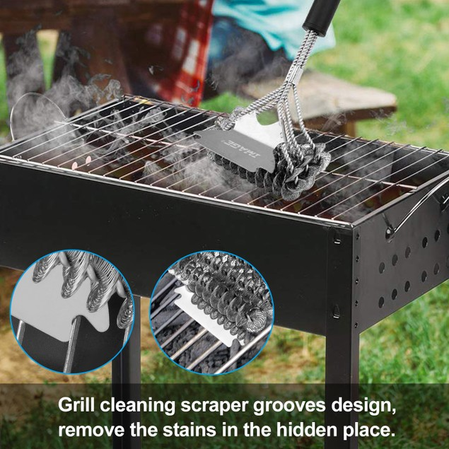 "Grill Cleaning Brush, Image 17 ""BBQ Grill Brush and Scraper Unique 2 in 1"