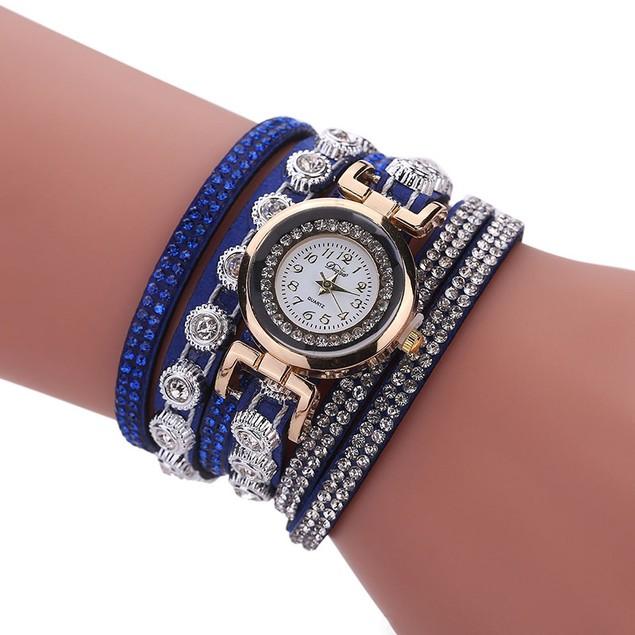 Women Luxury Crystal Bracelet Quartz Wristwatch Comes In 8 Colors