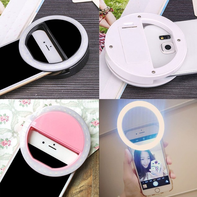 Clip Fill Light Selfie LED Ring Photography for iPhone Android Phone