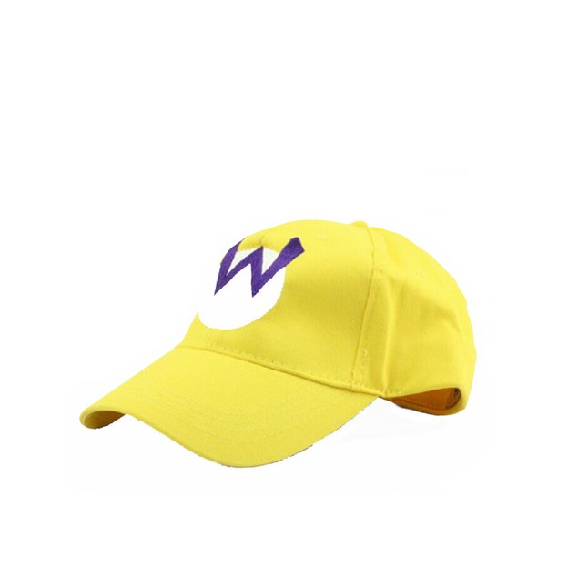 Wario W Logo Yellow Baseball Cap