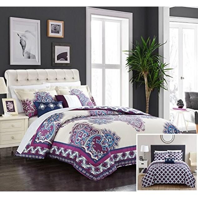 Chic Home 5 Piece Dukkha 100% Cotton XL Frame Vintage Boho Comforter Set