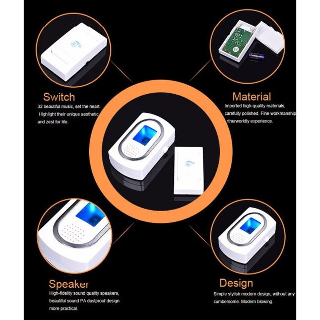 Wireless Chime Doorbell & Wireles Remote control 32 Tune Songs