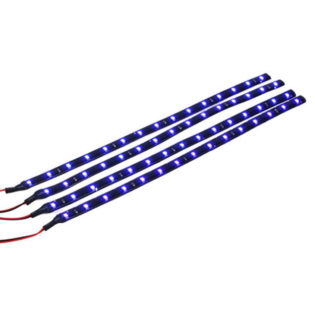 10pcs Car Motors Truck Flexible LED Strip Lights 12V Waterproof LED