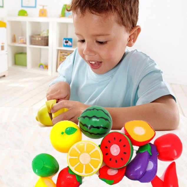 1 Set Cutting Fruit Vegetable Pretend Play Children Kid Educational Toy