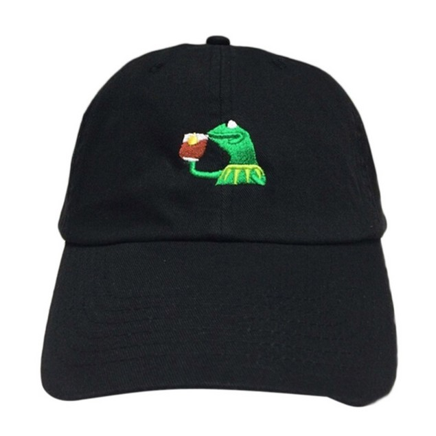 Kermit Sipping Tea But That's None Of My Business Black Hat