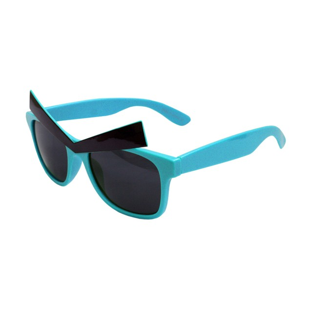 Teal Sunglasses With Eyebrows Angry Birds Video Game Sun Glasses