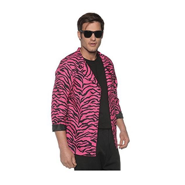 Pink 80's Zebra Print Blazer