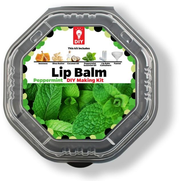 Peppermint Lip Balm DIY Making Gift Kit