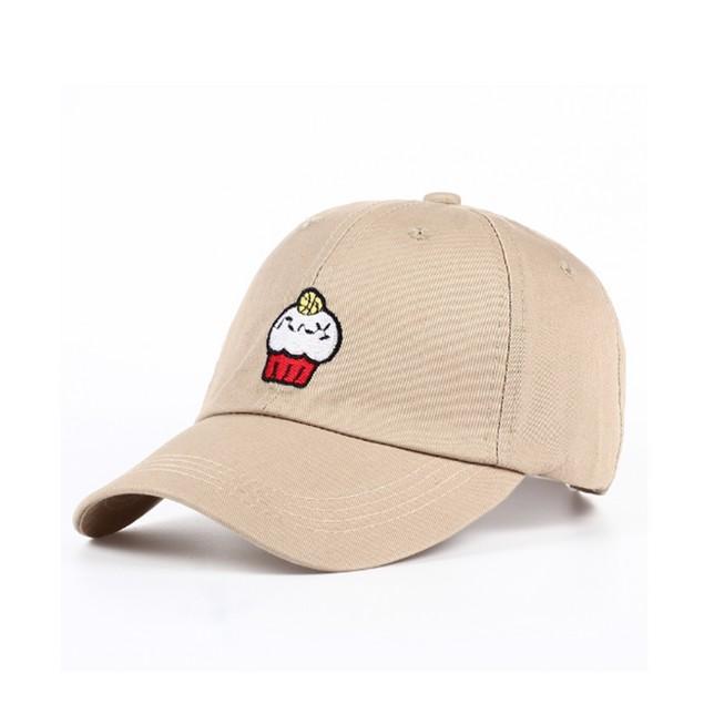 Cupcake Emoji Basketball Championship Khaki Baseball Cap