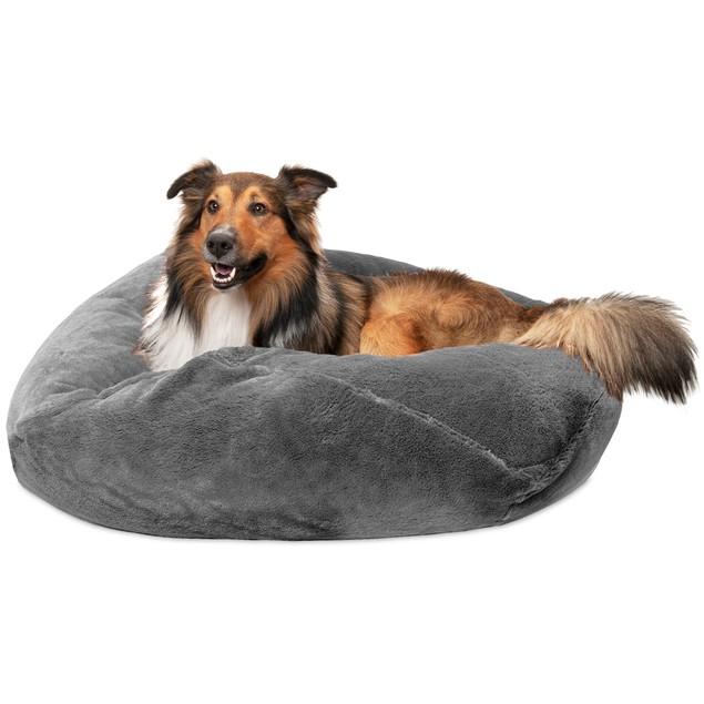 Furhaven  Round Plush Ball Pet Bed