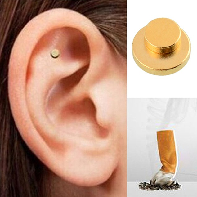 Quit Stop Smoking Smoke Auricular Ear Magnet Therapy Acupressure