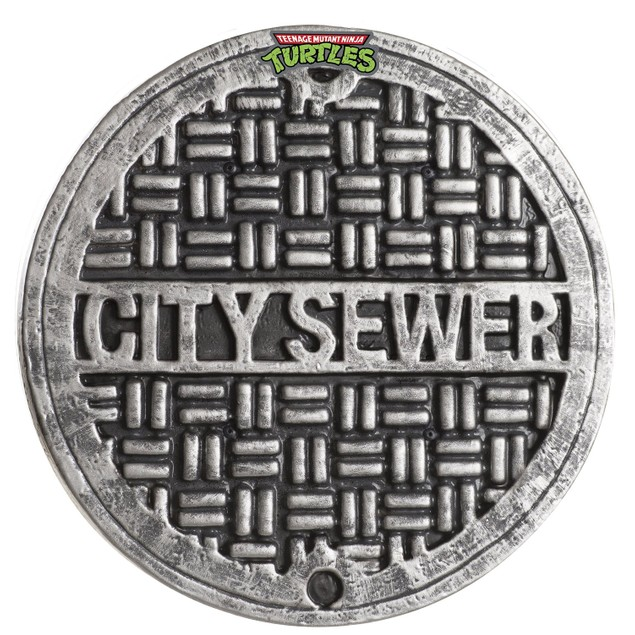 "Teenage Mutant Ninja Turtles 12"" City Sewer Cover Shield TMNT Child"
