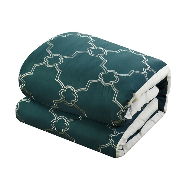 Chic Home 16 Pc. Lorimer embroidered and quilted Bed In a Bag Comforter Set