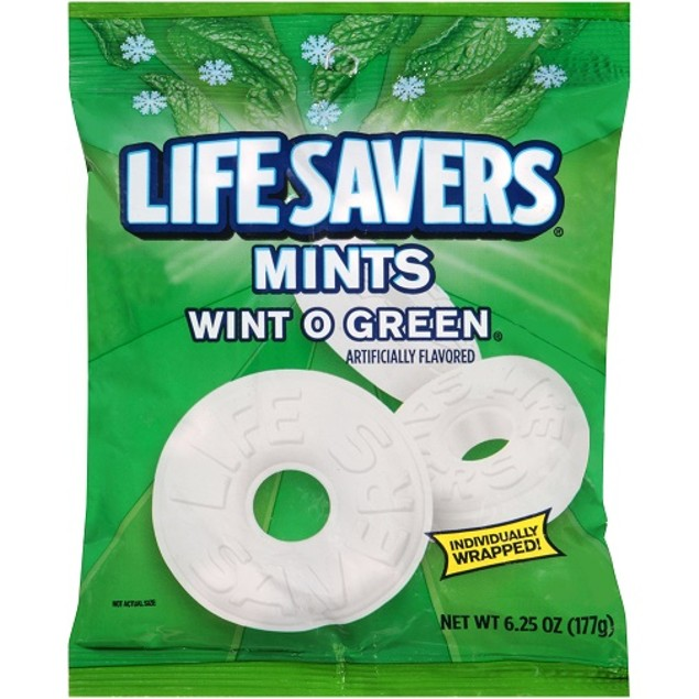 Lifesavers Mints Wint O Green Hard Candy Individually Wrapped