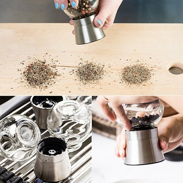 Salt and Pepper Grinder Bottle Manual Grinding Spice Mill Bottle Cruet