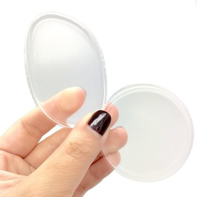 1 Pair Fashion Transparent Silicone Beauty Diaphanous Sponge Make Up Puff