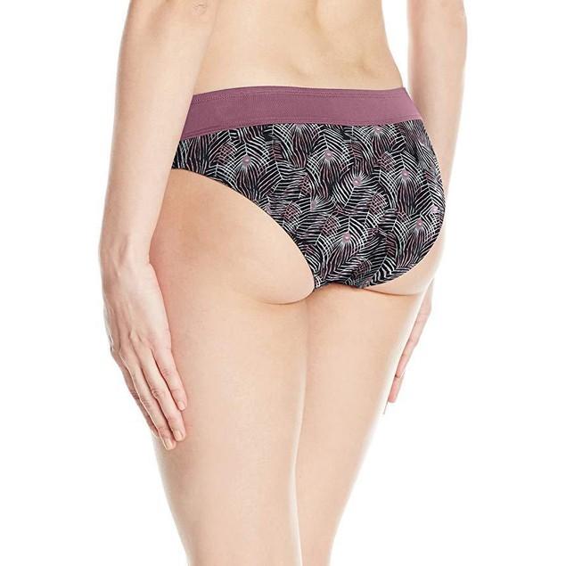 CARVE Designs Women's Catalina Swim Bottom, Black Plume W. Clay, X-Lar