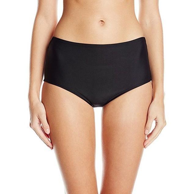 Unique Vintage Women's Peggy Tie Back Bikini Bottom, Black, SZM