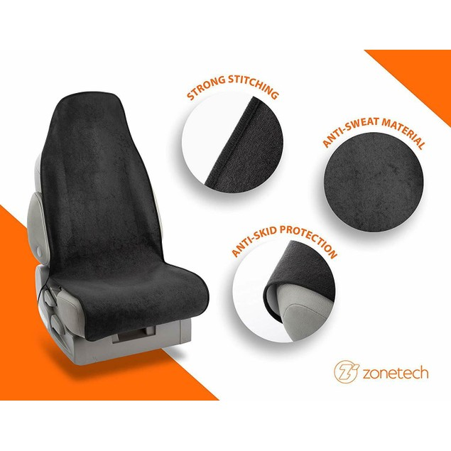 Zone Tech Sweat Towel Seat Car Cover Sports Gym Swimming Beach Outdoor