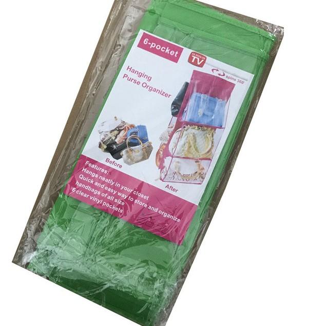 Double-Sided Six-Layer Handbag Storage Bag Hanging Type