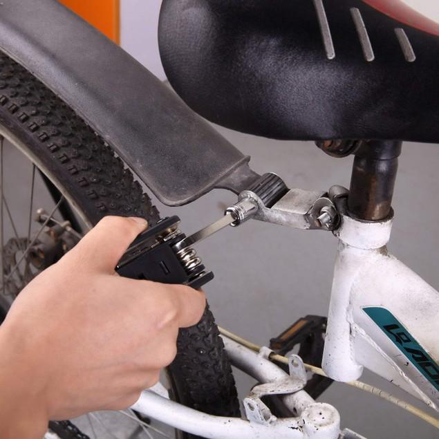 16 In 1 New Bicycle Portable Multi-function Steel Repair Tool