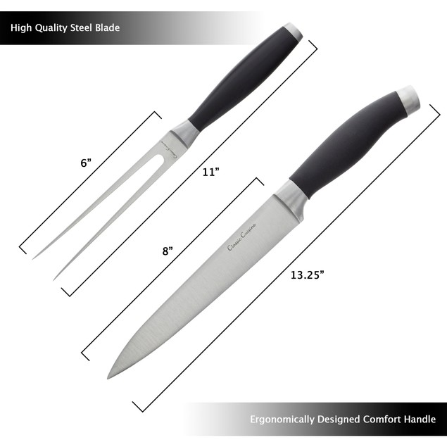 2 Piece Carving Set 8 inch Knife and Fork