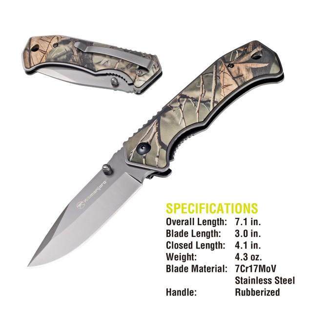 Kilimanjaro Victus 7 Inch Camo Folding Knife - Drop Point - 910089