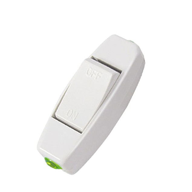 Light Cord Control Switch AC 110V 220V 6A Lnline ON/OFF Table Lamp Desk